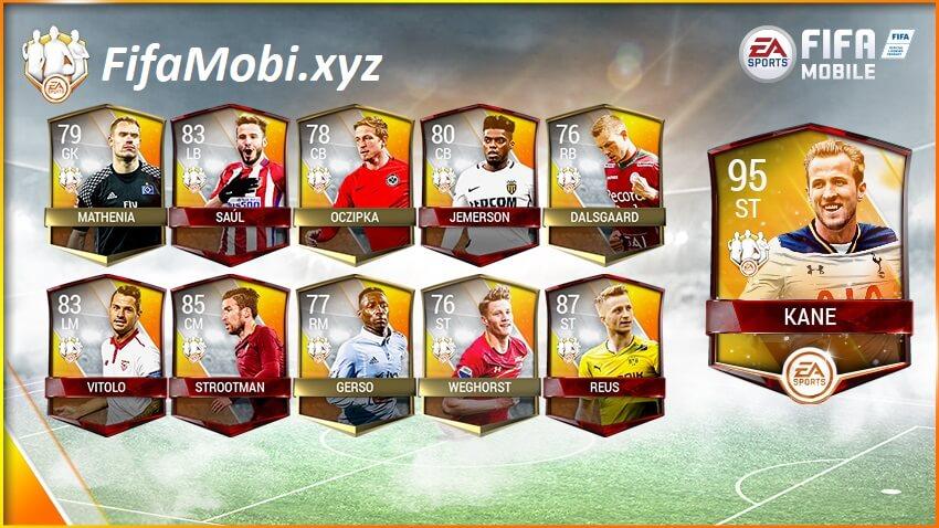 FIFA MOBILE - TEAM OF THE WEEK команда недели харри кейн список игроков