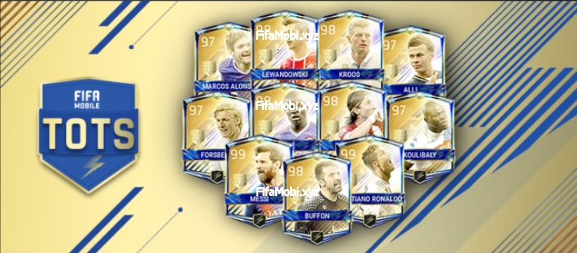 Футболисты ULTIMATE TEAM доступны для игры.